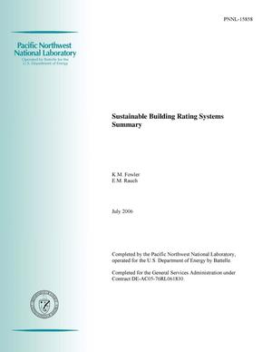 Primary view of object titled 'Sustainable Building Rating Systems Summary'.