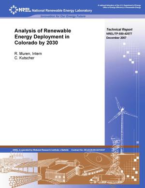 Primary view of object titled 'Analysis of Renewable Energy Deployment in Colorado by 2030'.