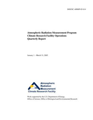 Primary view of object titled 'Atmospheric Radiation Measurement Program Climate Research Facility Operations Quarterly Report January 1 - March 31, 2005'.