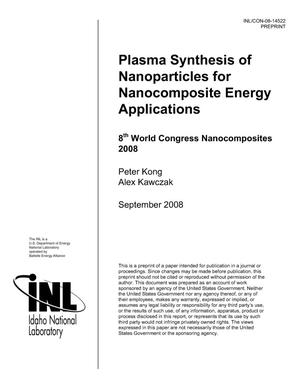 Primary view of object titled 'Plasma Synthesis of Nanoparticles for Nanocomposite Energy Applications'.