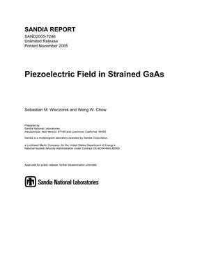 Primary view of object titled 'Piezoelectric field in strained GaAs.'.