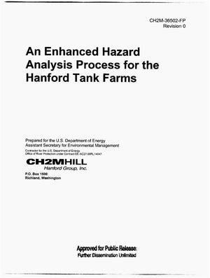 Primary view of object titled 'AN ENHANCED HAZARD ANALYSIS PROCESS FOR THE HANFORD TANK FARMS'.