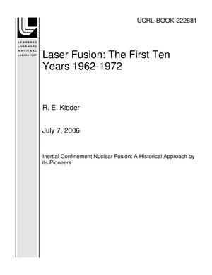Primary view of object titled 'Laser Fusion: The First Ten Years 1962-1972'.