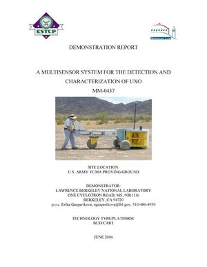 Primary view of object titled 'A multisensor system for detection and characterization of UXO(MM-0437) - Demonstration Report'.