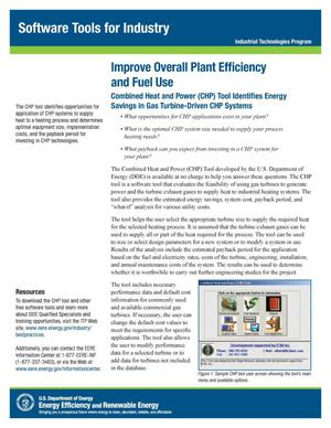 Primary view of object titled 'Improve Overall Plant Efficiency and Fuel Use, Software Tools for Industry, Industrial Technologies Program (ITP) (Fact Sheet)'.