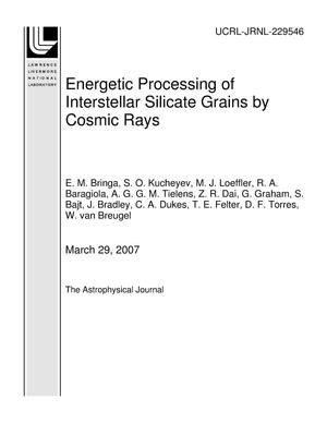 Primary view of object titled 'Energetic Processing of Interstellar Silicate Grains by Cosmic Rays'.