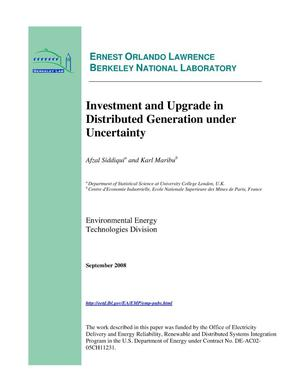 Primary view of object titled 'Investment and Upgrade in Distributed Generation under Uncertainty'.