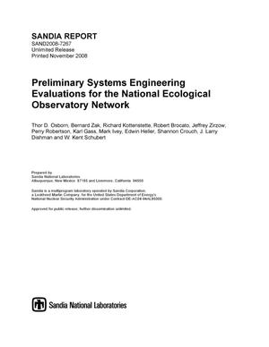 Primary view of object titled 'Preliminary systems engineering evaluations for the National Ecological Observatory Network.'.
