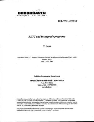 Primary view of object titled 'RHIC and its upgrade programmes.'.