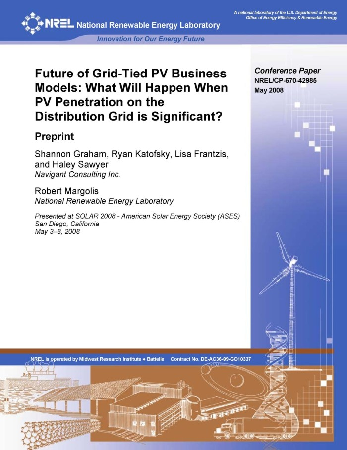 Future of Grid-Tied PV Business Models: What Will Happen