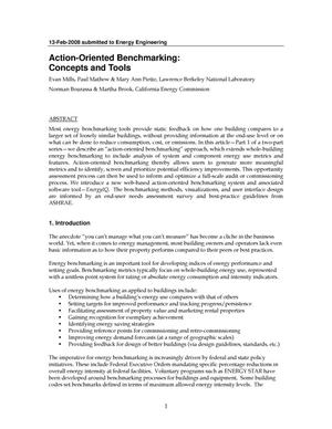 Primary view of object titled 'Action-Oriented Benchmarking: Concepts and Tools'.