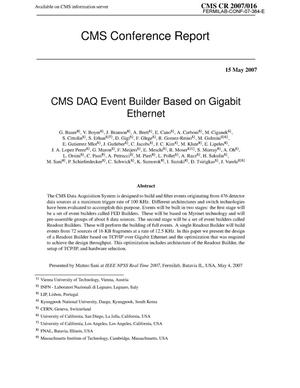 Primary view of object titled 'CMS DAQ event builder based on Gigabit Ethernet'.