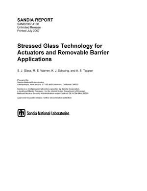 Primary view of object titled 'Stressed glass technology for actuators and removable barrier applications.'.