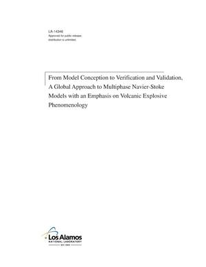 Primary view of object titled 'From model conception to verification and validation, a global approach to multiphase Navier-Stoke models with an emphasis on volcanic explosive phenomenology'.