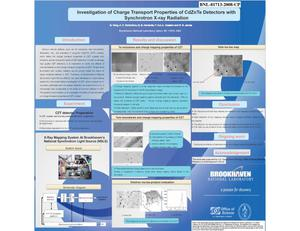 Primary view of object titled 'Investigation of Charge Transport Properties of CdZnTe Detectors with Synchrotron X-ray Radiation'.