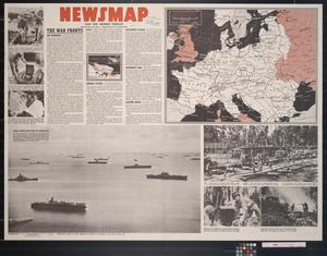 Primary view of object titled 'Newsmap. For the Armed Forces. 243rd week of the war, 125th week of U.S. participation'.