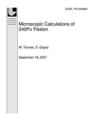 Primary view of object titled 'Microscopic Calculations of 240Pu Fission'.