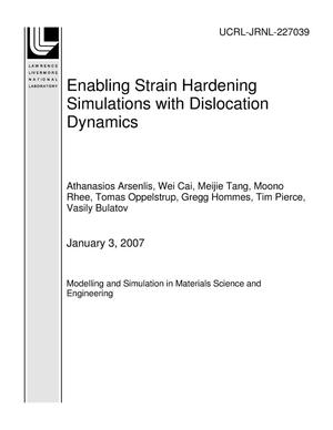 Primary view of object titled 'Enabling Strain Hardening Simulations with Dislocation Dynamics'.