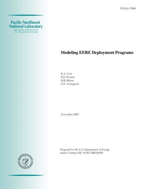 Primary view of object titled 'Modeling EERE Deployment Programs'.