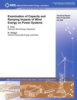 Primary view of object titled 'Examination of Capacity and Ramping Impacts of Wind Energy on Power Systems'.