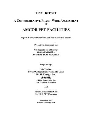 Primary view of object titled 'A comprehensive plant-wide assessment of Amcor PET Packaging at Fairfield, California'.