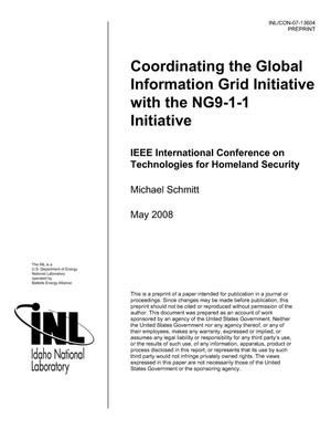 Primary view of object titled 'Coordinating the Global Information Grid Initiative with the NG9-1-1 Initiative'.