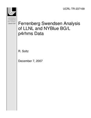 Primary view of object titled 'Ferrenberg Swendsen Analysis of LLNL and NYBlue BG/L p4rhms Data'.