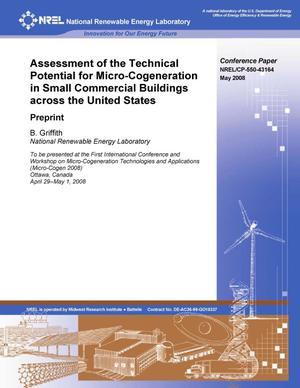 Primary view of object titled 'Assessment of the Technical Potential for Micro-Cogeneration in Small Commerical Buildings across the United States: Preprint'.