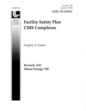 Primary view of object titled 'Facility Safety Plan CMS Complexes'.