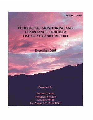 Primary view of object titled 'Ecological Monitoring and Compliance Program Fiscal Year 2003 Report'.