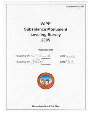 Primary view of object titled 'WIPP Subsidence Monument Leveling Survey - 2005'.