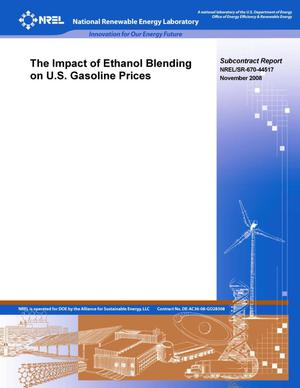 Primary view of object titled 'Impact of Ethanol Blending on U.S. Gasoline Prices'.