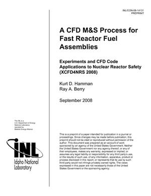 Primary view of object titled 'A CFD M&S PROCESS FOR FAST REACTOR FUEL ASSEMBLIES'.