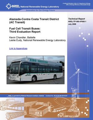 Primary view of object titled 'Alameda-Contra Costa Transit District (AC Transit) Fuel Cell Transit Buses: Third Evaluation Report and Appendices'.