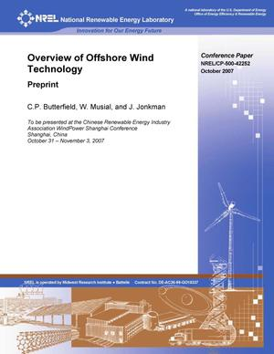 Primary view of object titled 'Overview of Offshore Wind Technology: Preprint'.