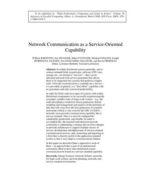 Primary view of object titled 'Network Communication as a Service-Oriented Capability'.