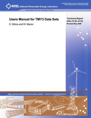 Primary view of object titled 'Users Manual for TMY3 Data Sets (Revised)'.