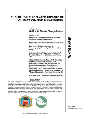 Primary view of object titled 'Public Health-Related Impacts of Climate Change inCalifornia'.