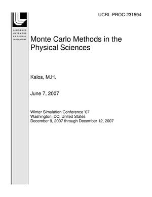 Primary view of object titled 'Monte Carlo Methods in the Physical Sciences'.