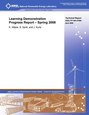 Primary view of object titled 'Learning Demonstration Progress Report -- Spring 2008'.