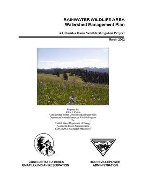 Primary view of object titled 'Rainwater Wildlife Area, Watershed Management Plan, A Columbia Basin Wildlife Mitigation Project, 2002.'.