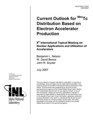 Primary view of object titled 'Current Outlook for 99mTc Distribution Based on Electron Accelerator Production'.