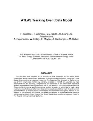 Primary view of object titled 'ATLAS TrackingEvent Data Model -- 12.0.0'.