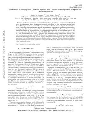 Primary view of object titled 'Maximal Wavelength of Confined Quarks and Gluons and Properties of Quantum Chromodynamics'.
