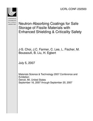 Primary view of object titled 'Neutron-Absorbing Coatings for Safe Storage of Fissile Materials with Enhanced Shielding & Criticality Safety'.