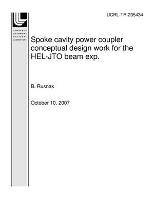 Primary view of object titled 'Spoke cavity power coupler conceptual design work for the HEL-JTO beam exp.'.