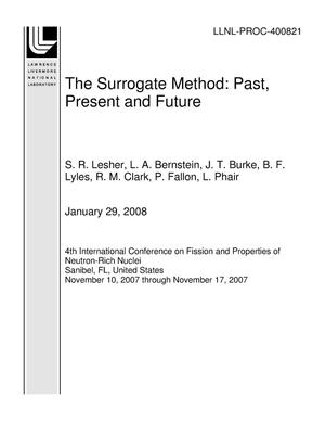 Primary view of object titled 'The Surrogate Method: Past, Present and Future'.