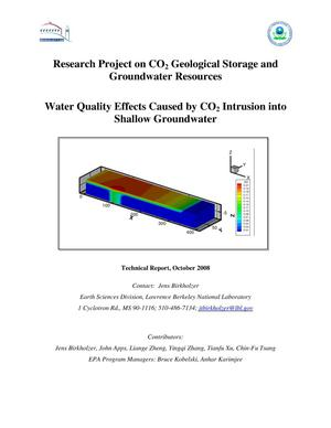 Primary view of object titled 'Research Project on CO2 Geological Storage and Groundwater Resources: Water Quality Effects Caused by CO2 Intrusion into Shallow Groundwater'.