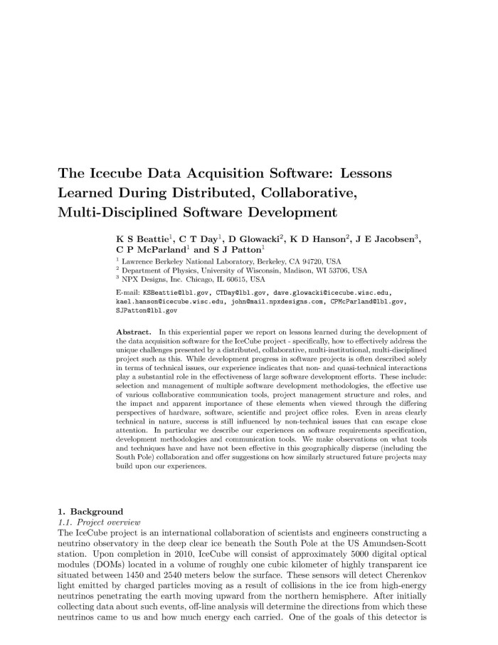 The IceCube Data Acquisition Software: Lessons Learned