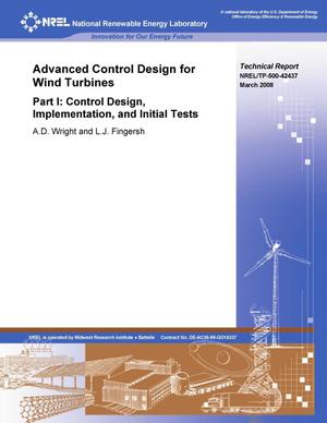 Primary view of object titled 'Advanced Control Design for Wind Turbines; Part I: Control Design, Implementation, and Initial Tests'.
